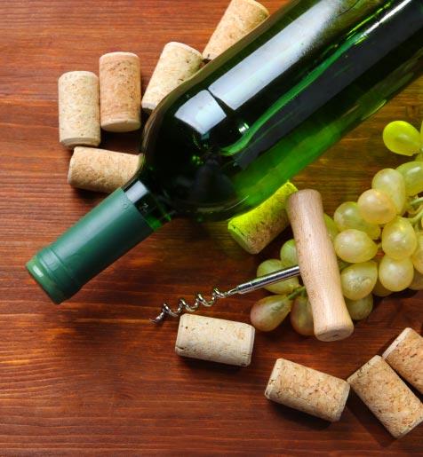 Wine Bottle Close Up
